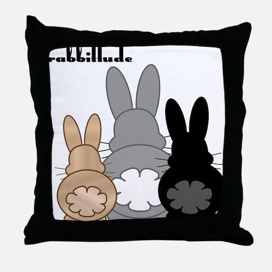 Rabbittude Posse Throw Pillow