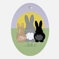 Rabbittude Posse Journal Oval Ornament