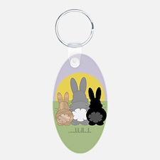 Rabbittude Posse Journal Keychains