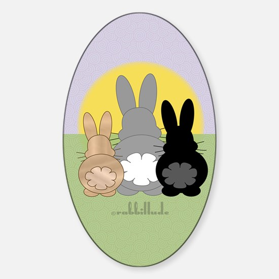 Rabbittude Posse Journal Sticker (Oval)