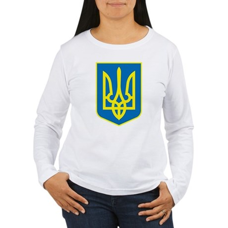 Ukraine Coat of Arms Women's Long Sleeve T-Shirt