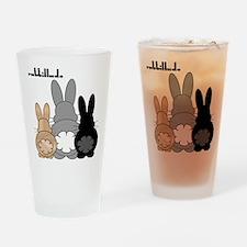 Rabbittude Posse Drinking Glass
