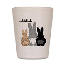 Rabbittude Posse Shot Glass