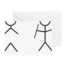 Stick Figure Humor Greeting Card