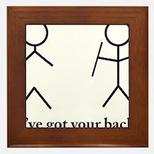 Stick Figure Humor Framed Tile