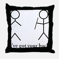 Stick Figure Humor Throw Pillow