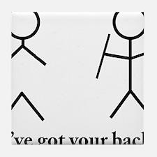 Stick Figure Humor Tile Coaster