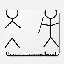 Stick Figure Humor Mousepad