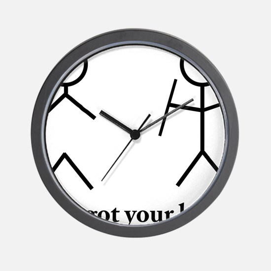 Stick Figure Humor Wall Clock