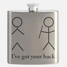 Stick Figure Humor Flask