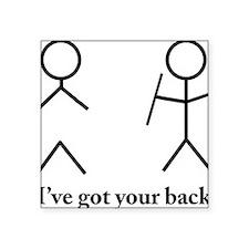 """Stick Figure Humor Square Sticker 3"""" x 3"""""""