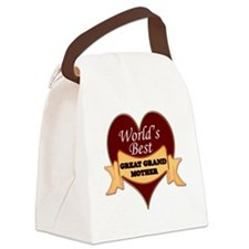 Worlds Best Great Grandmother Canvas Lunch Bag