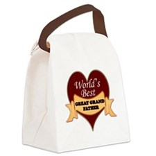 Worlds Best Great Grandfather Canvas Lunch Bag