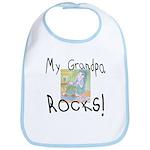 Grandpa Rocks 2 Bib