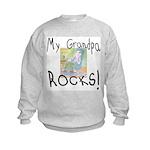 Grandpa Rocks 2 Kids Sweatshirt
