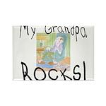 Grandpa Rocks 2 Rectangle Magnet