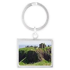 Dunnottar Castle Magnet Landscape Keychain