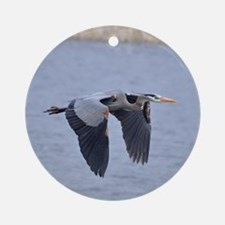 Heron Flying Ornament (Round)