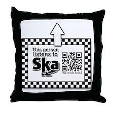 Listens to SKA Throw Pillow