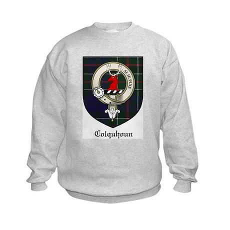 Colquhoun Clan Crest Tartan Kids Sweatshirt