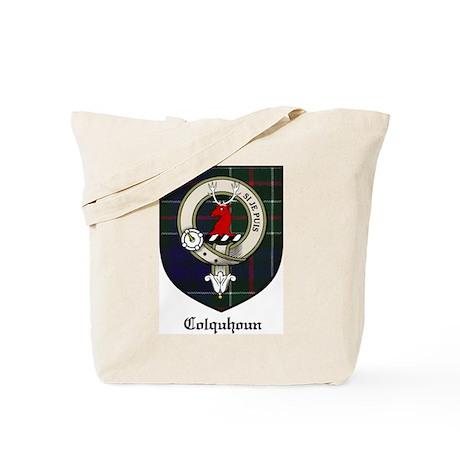 Colquhoun Clan Crest Tartan Tote Bag