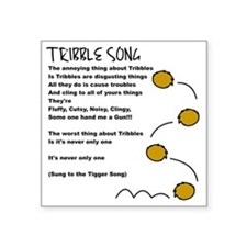 """Tribble Song Square Sticker 3"""" x 3"""""""
