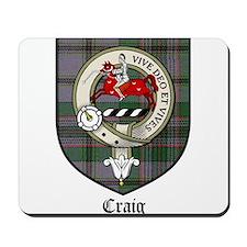 Craig Clan Crest Tartan Mousepad