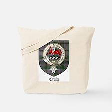 Craig Clan Crest Tartan Tote Bag
