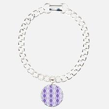 Purple Argyle Pattern Bracelet