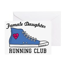 Female Daughter Running Club Greeting Card