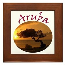 Aruba-Sunsets Logo Framed Tile