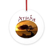 Aruba-Sunsets Logo Round Ornament