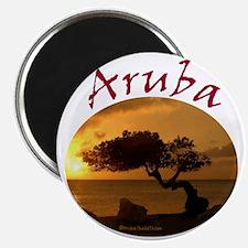 Aruba-Sunsets Logo Magnet