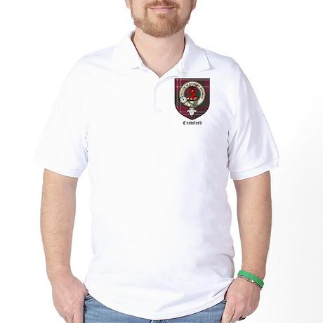 Crawford Clan Crest Tartan Golf Shirt