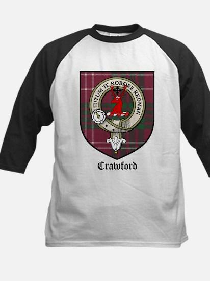 Crawford Clan Crest Tartan Kids Baseball Jersey