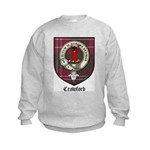 Crawford Clan Crest Tartan Kids Sweatshirt