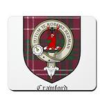 Crawford Clan Crest Tartan Mousepad
