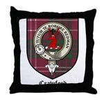 Crawford Clan Crest Tartan Throw Pillow