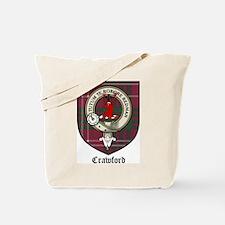 Crawford Clan Crest Tartan Tote Bag
