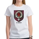 Crawford Clan Crest Tartan Women's T-Shirt