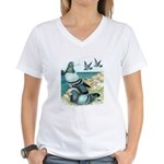 Rock Doves Women's V-Neck T-Shirt