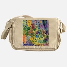 Feelin Groovy Square Messenger Bag