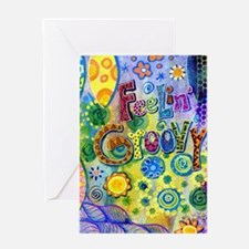 Feelin Groovy Square Greeting Card