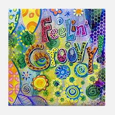 Feelin Groovy Square Tile Coaster