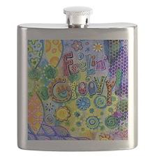 Feelin Groovy Square Flask