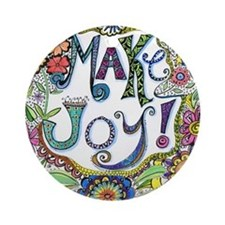 Make Joy Round Ornament