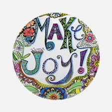 Make Joy Round Ornament