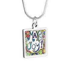 Make Joy Silver Square Necklace