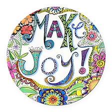Make Joy Round Car Magnet