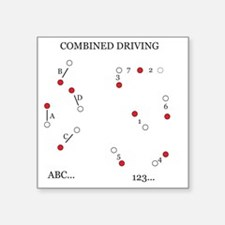 """Combined Driving for Kids Square Sticker 3"""" x 3"""""""